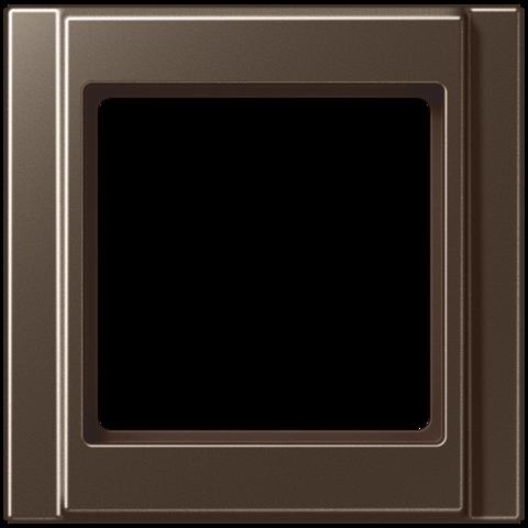 Рамка на 1 пост. Цвет Мокко. JUNG A 500. A581MO