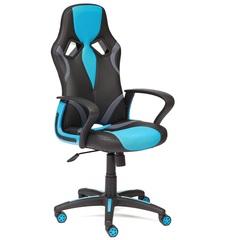 Кресло компьютерное RUNNER — черный/голубой