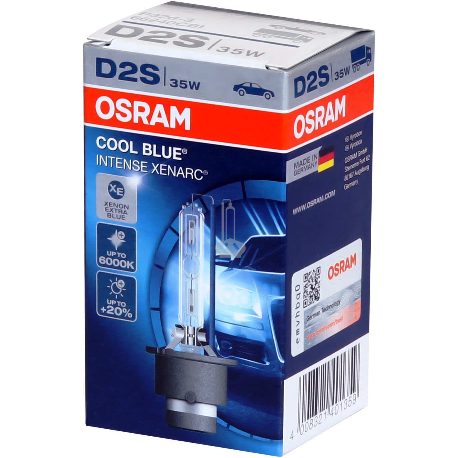 Ксеноновая лампа OSRAM D2S XENARC COOL BLUE INTENSE
