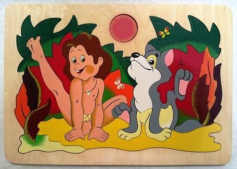 Мозаика-вкладыш Маугли, Крона