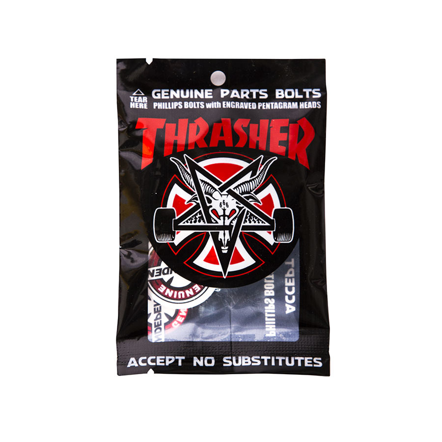 Винты INDEPENDENT x THRASHER Phillips Hardware (Black/Silver)