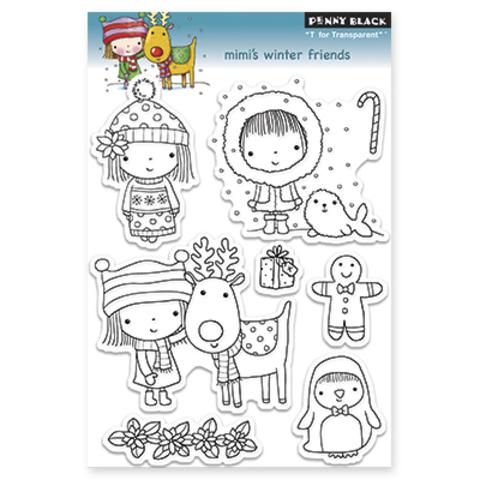 Набор штампов mimi's winter friends