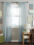 Длинные шторы. Тюль вуаль Nouvelle-2 (Light Blue)