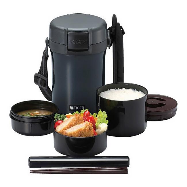 Многофункциональный термос для еды Tiger LWU-A201(1,41 литра) темно-серый