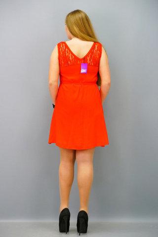 Маки. Стильна сукня великих розмірів. Червоний.