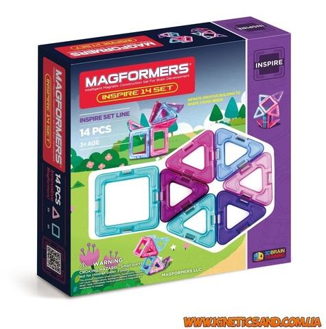Magformers 14 элементов. Набор Вдохновение Магформерс.