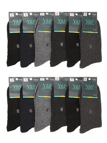 A1026 носки мужские 41-47 (12шт.), цветные