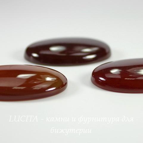 Кабошон овальный Агат Красный, 40х30 мм