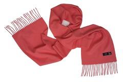 Шерстяной шарф темно-розовый 01408