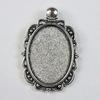 Сеттинг - основа - подвеска для камеи или кабошона 25х18 мм (цвет - античное серебро)