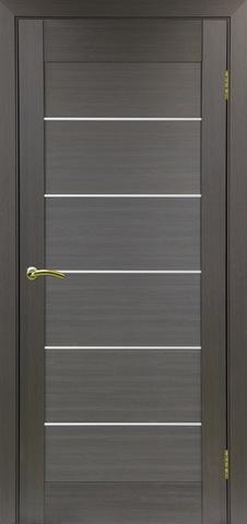 Дверь Optima Porte Тренто 306.2, стекло матовое, цвет венге, остекленная