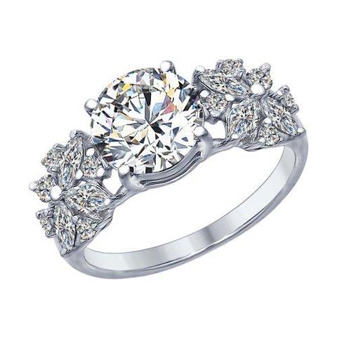 Кольцо из серебра с фианитами от SOKOLOV арт.94012395