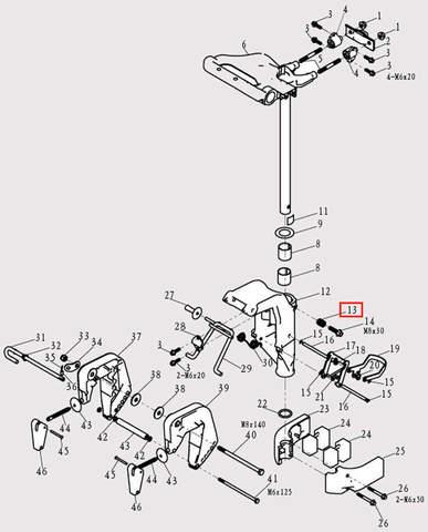 Пружина Φ13*20 для лодочного мотора F9.8 Sea-PRO (13-13)