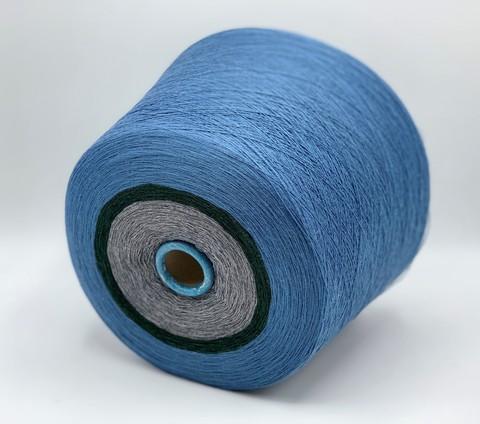 Бобинная пряжа Stok (пр.Италия) , 1400 м/100гр,50% меринос, 50% акрил, цвет. Темно-голубой+зеленый+серый. арт.2175.