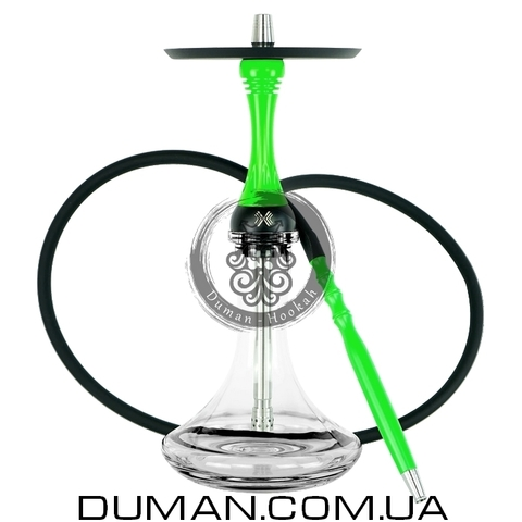 Кальян Alpha Hookah Model X | Craft Clear Green Fluor