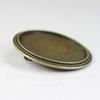 Основа для броши с сеттингом для кабошона 30 мм, 35 мм (цвет - античная бронза)