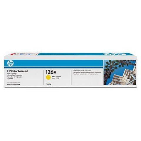 Картридж HP 126A (HP CE312A) желтый для HP LaserJet Pro CP1025, CP1025nw (ресурс 1000 стр.)