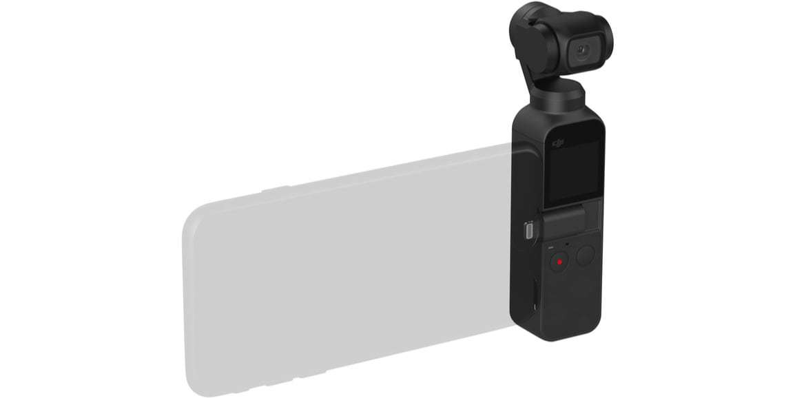 Стабилизатор DJI Osmo Pocket подключение смартфона