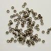 Кримпы - зажимные бусины 2х1,2 мм (цвет - античная бронза) 2 гр (около 170-180 штук)