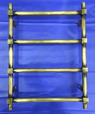 Retro Cube Bronze - бронзовый полотенцесушитель в стиле ретро.
