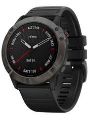 Мультиспортивные часы Garmin Fenix 6X  Sapphire - серый DLC  с черным ремешком 010-02157-11