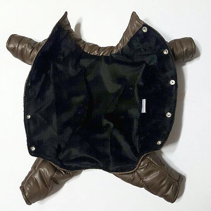 комбинезоны для собак на меховой подкладке