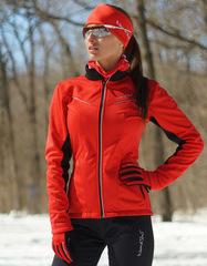 Женская тёплая лыжная куртка Nordski Premium 2018 Red-Black