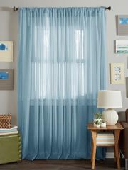 Длинные шторы. Тюль вуаль Nouvelle (Aqua Blue)