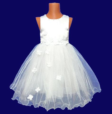 Платье для малышек с белыми цветами