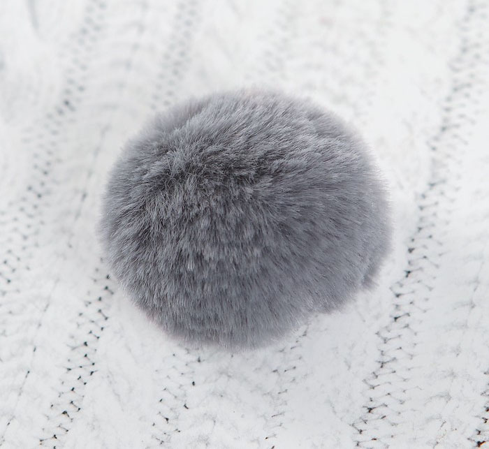 Помпон из искусственного меха, 4 см, 1 шт.