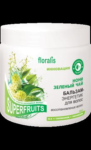 Floralis Superfruits Бальзам-энергетик для волос «Нони и Зеленый чай» 500г