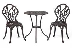 Комплект Secret De Maison Waltz of flowers (стол +2 стула) Вальс цветов — бронза/bronze