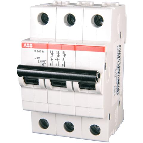 Автоматический выключатель 3-полюсный 16 А, тип Z, 10 кА S203M Z16UC. ABB. 2CDS273061R0468