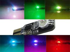 W5W (T10) стробоскоп RGB