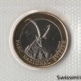 P2916, 2007, Швейцария, 10 франков UNC в родной запайке, Горный козел