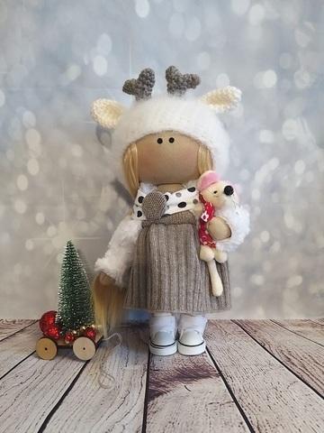 Текстильная Кукла Оленёнок