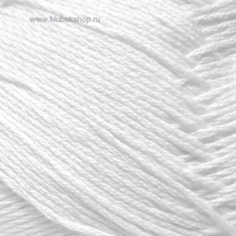 Пряжа Хлопок натуральный (Пехорка) Белый 01