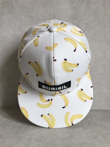 кепка бейсболка белая бананы принт