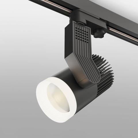 Трековый светодиодный светильник для трехфазного шинопровода Accord Черный 30W 4200K LTB44