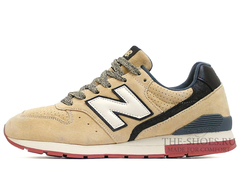 Кроссовки Мужские New Balance 996 Beige Suede White Black