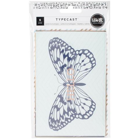 Набор открыток с конвертами We R Typecast Card & Envelope Set