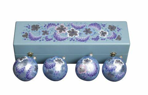 Набор из 4 елочных шаров в шкатулке SET04D-667785813