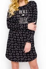 Молодежная домашняя сорочка Gala черная
