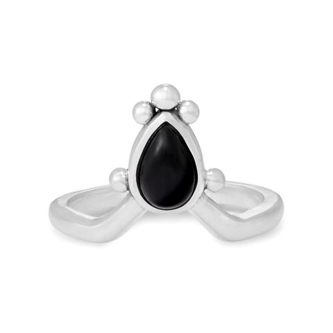 Кольцо IRIS - Черный оникс