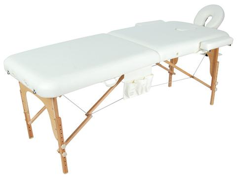 Складной массажный стол Med-Mos JF-AY01 (МСТ-003Л), бук, 2-секционный, с регулировкой высоты