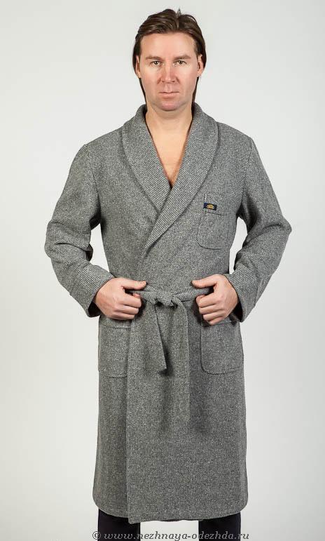 Мужской халат с начесом B&B