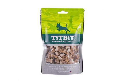 Titbit косточки мясные для собак с индейкой и творогом