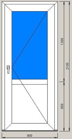 Дверь входная 900х2100 мм FUNKE (Германия)