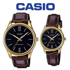 Парные часы Casio Standard: MTP-V005GL-1B и LTP-V005GL-1B