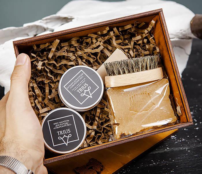 Набор средств для ухода за бородой и телом с щеткой фото 06